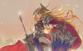 Picture girl, weapons, anime, art, Mobile Suit Gundam