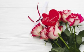 Picture love, roses, Flowers, bouquet, Holiday, Postcard, Heart, Valentine's day