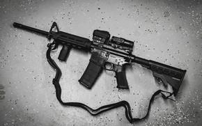 Wallpaper AR-15, a semi-automatic rifle, background
