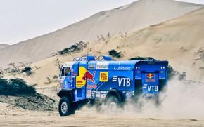 Picture Sand, Truck, Race, Master, Russia, Kamaz, Rally, Dakar, Dakar, Rally, KAMAZ, The roads, RedBull, Master, …