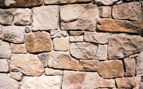 Picture wall, pattern, stones