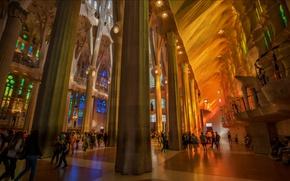 Wallpaper Spain, Barcelona, The Sagrada Familia