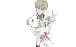 Picture look, art, guy, cyborg, One Punch Man, Genos