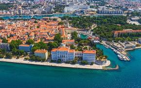 Picture sea, the city, Croatia, Adriatica, Jadran, Zadar