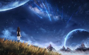 Picture girl, space, nature, OR
