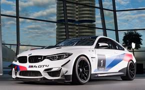 Wallpaper BMW M4, racing car, BMW, 2018, GT4