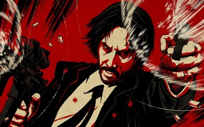 Wallpaper cinema, gun, pistol, weapon, man, movie, M4A1, film, rifle, Keanu Reeves, angry, powerful, strong, fury, ...