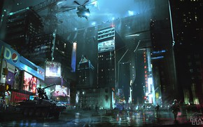 Wallpaper helicopter, night, house, street, art, the city, Maze Runner, Death Cure, wall