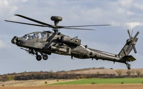 Picture helicopter, With, Apache AH1, WAH-64 ZJ182