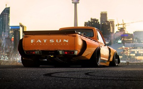 Picture Concept, Orange, Car, Pickup, by Khyzyl Saleem, Fatsun