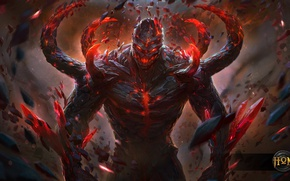 Picture magic, monster, hon, Golem, Heroes of Newerth, Adrenaline