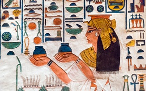 Wallpaper Characters, wall, paint, Egypt, antiquity