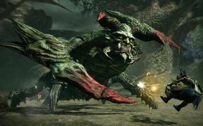 Picture game, monster, armor, fight, bakemono, Toukiden 2, Toukiden
