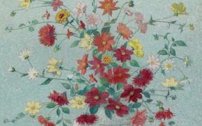Picture picture, still life, Achille Lauge, Achilles Box, Vase with Flowers