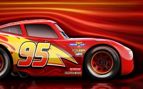 Picture car, red, Disney, Cars, race, speed, animated film, animated movie, Cars 3, Lightning McQueen