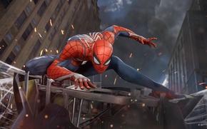 Picture spider, game, boy, fight, mask, Spider-Man, uniform, seifuku, SpiderMan, Spider-Man Homecoming, E3 2017, Spider Man ...