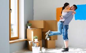 Picture couple, apartment, dreams, housing