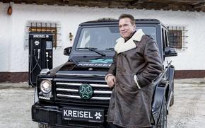 Wallpaper Mercedes-Benz, Kreisel Electric, Electric SUV, Arnold Schwarzenegger, Kreisel, Arnold Schwarzenegger, Mercedes - Benz