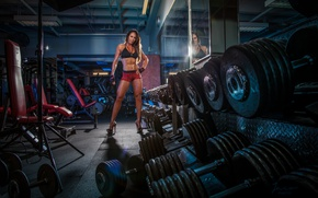 Picture model, look, pose, fitness, brunete, abs