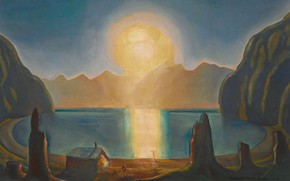 Picture sea, landscape, mountains, picture, Rockwell Kent, Rockwell Kent, Vnutri Sun