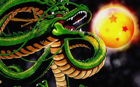 Wallpaper fiction, snakes, figure, dragon, the moon, painting, picture, art, background