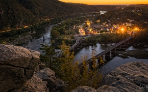 Picture the city, Sunset, Harpers Ferry