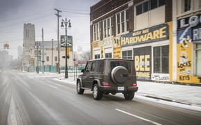 Picture snow, street, building, Mercedes-Benz, the sidewalk, 2018, G-Class