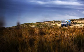 Picture Nature, Grass, Sport, Truck, Race, Master, Kamaz, Rally, Rally, KAMAZ, The roads, RedBull, Master, Overcast