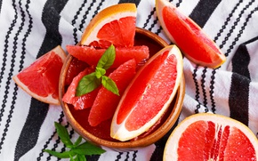 Picture plate, fruit, vitamins, grapefruit, slices