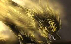 Picture dragon, art, fantasy