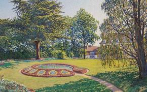 Picture landscape, picture, flowerbed, Gustave Cariot, Gustave Cairo, Castle Park