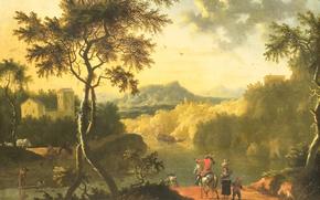 Picture oil, picture, Italian Landscape, Timotheus de Graef