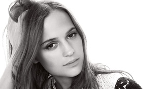 Picture look, face, actress, Sweden, Alicia Vikander, Alicia Vikander