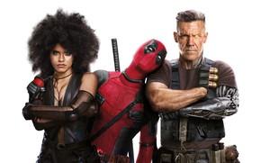 Wallpaper Ryan Reynolds, Cable, Zazie Beetz, Deadpool Deadpool 2, Josh-Brolin