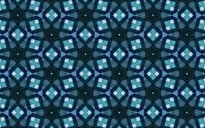 Picture blue, mosaic, background, texture, pattern