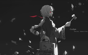 Picture girl, background, anime, art, Fate / Grand Order