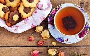 Picture tea, roses, cookies