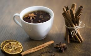Picture lemon, drink, cinnamon, carnation, Tea