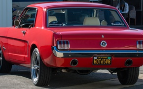 Picture Retro, classic, 1965, Mustang V8