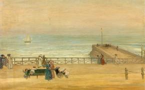 Picture picture, pier, promenade, Brighton, Charles Conder, Charles Conder