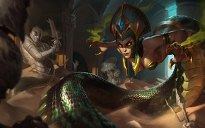 Picture Sand, The game, Snake, Sword, Eyes, Claws, Snake, Shield, Eyes, Game, Sand, Cassiopeia, Cassiopeia, League …