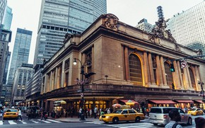 Picture street, station, home, New York, USA, car, Grand Central Terminal