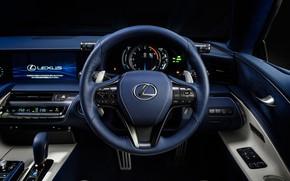Picture Lexus, the wheel, salon, 2018, LC 500, Structural Blue