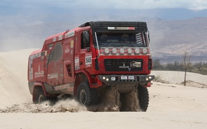 Picture sand, truck, rally, MAZ