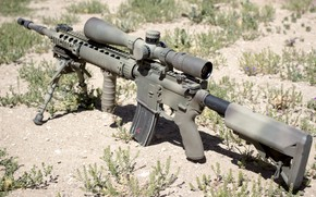 Picture weapons, optics, assault rifle, fry, Mk12