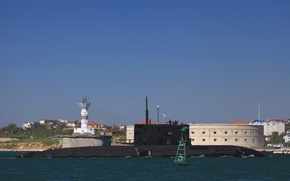 Picture boat, underwater, Novorossiysk, diesel, the project 636.3