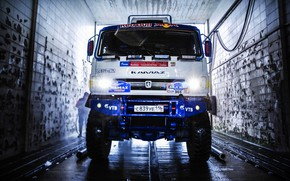Picture Truck, Master, Sink, Lights, Russia, Kamaz, Rally, Rally, KAMAZ, The front, RedBull, Master, Clean