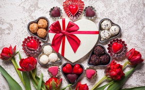 Picture candy, love, romantic, hearts, chocolate, sweet, gift, valentine`s day