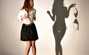 Picture shadow, Shadowplay, girl, the game