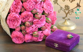 Picture gift, roses, bouquet, Bud